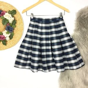 Vintage 90's preppy schoolgirl plaid skirt